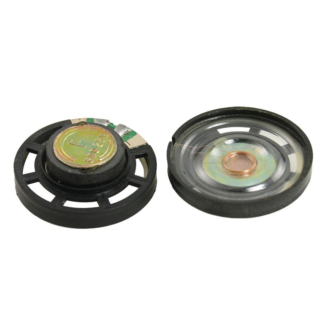 2x External Magnetic Type Round Plastic Shell Speaker 8 Ohm 0.25W 2 Pcs(China (Mainland))