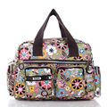 Stylish Print Casual Handbag Waterproof Floral Cloth Women Hand held Crossbody Bag Ladies Trendy Lovely Durable