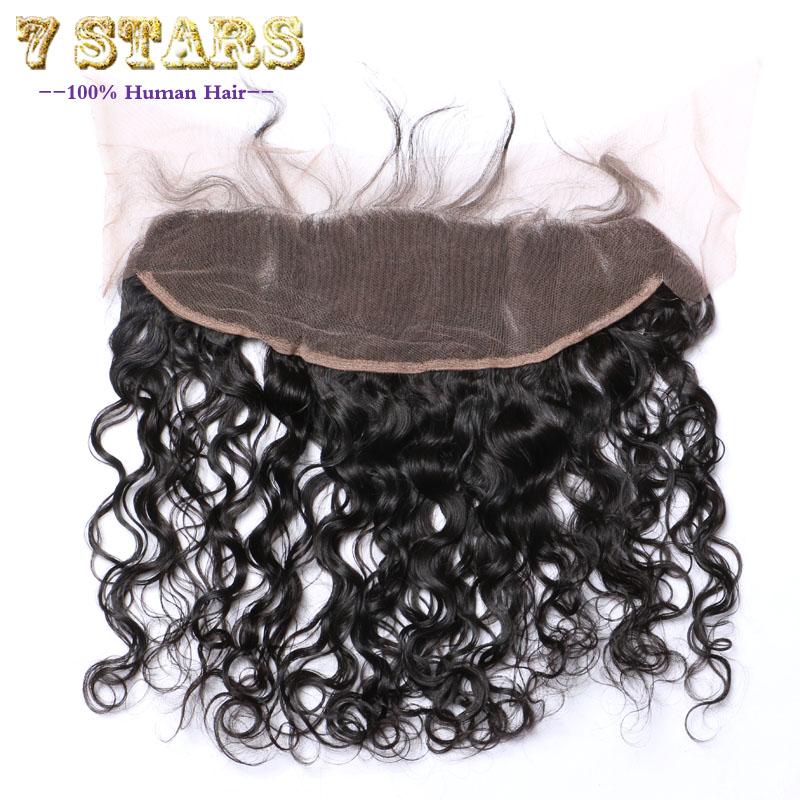 Здесь можно купить  7A Natural Wave Lace Frontal Closure 13x4 Bleached Knots Brazilian Virgin Hair Full Lace Frontal Brazilian Lace Closure Weave  Волосы и аксессуары