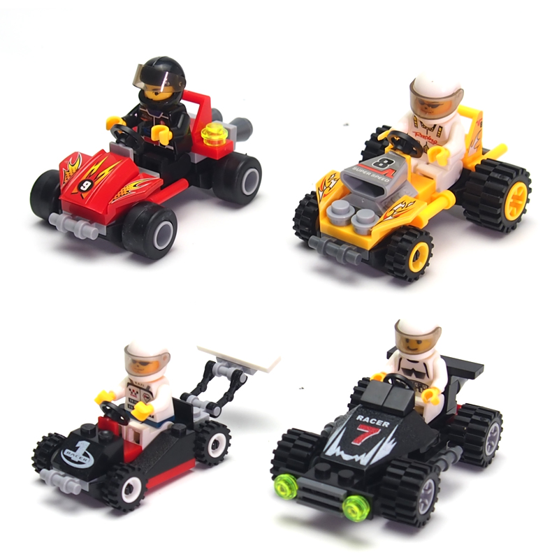 City Police Minifigures Building Blocks Racing Car Military Engineering Vehicles Bricks Compatible Legoelieds Kids Toys(China (Mainland))
