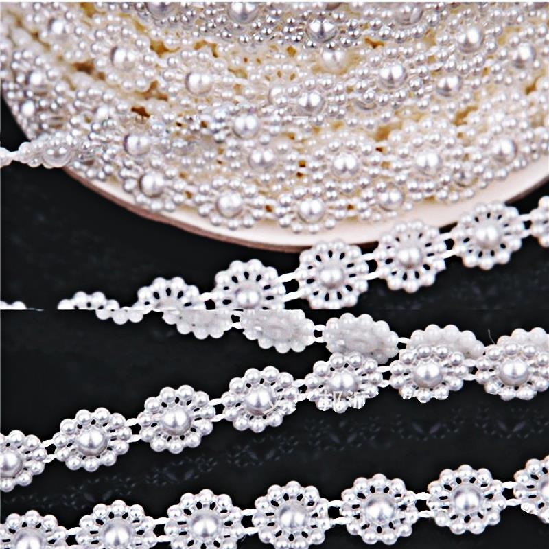 Free shipping Connection Line pearl beads Chain Garland Flowers Wedding Party Decoration party Bouquet clothing Supplies(China (Mainland))