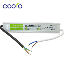 DC 12V 45W Waterproof ip67 Electronic LED Driver outdoor use power supply led strip transformers adapter,free shipping(China (Mainland))
