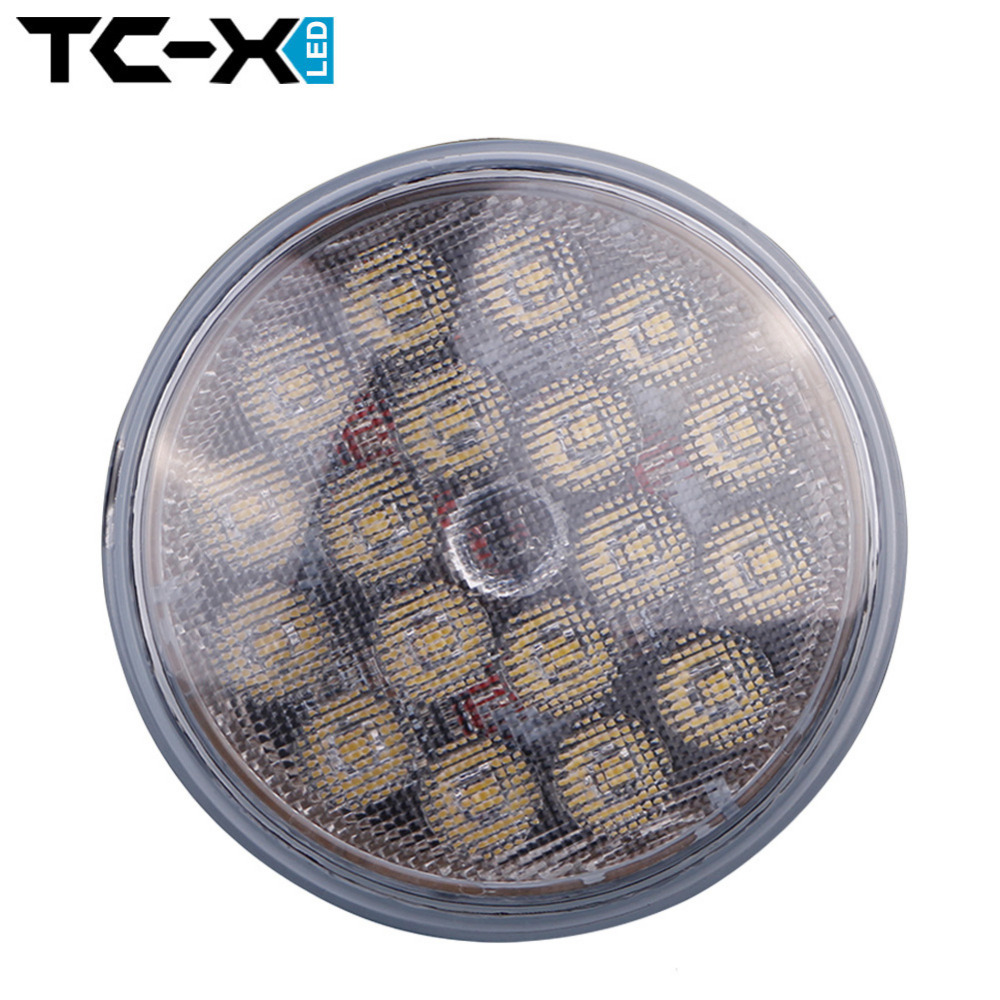 TC-X 1 pcs Par 36 Round LED Work Light Ultra Bright with Lumileds Lamp LED Working Light 12V 24V Off Road 4X4 Tractor Truck(China (Mainland))