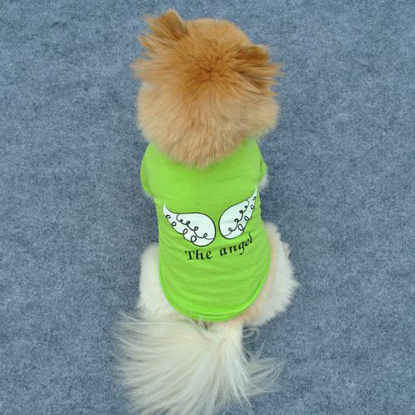 Pet Vest Clothing Dog Puppy Pet Vest Clothes Angel Wing Pattern T-shirt Tops Apparel Tee Blouse(China (Mainland))
