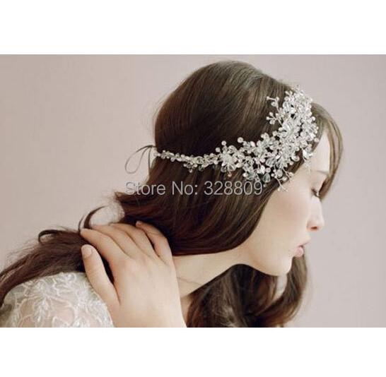 New Style handmade crsytal Wedding Silver bride headdress fashion crystal bridal head band wedding hair jewelry accessory<br><br>Aliexpress