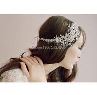 New Style handmade crsytal Wedding Silver bride headdress fashion crystal bridal head band wedding hair jewelry accessory