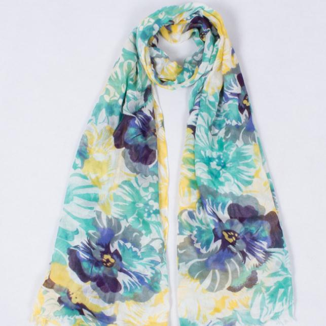 Hot Sale Cotton Polyester Women Scarf Wraps Shawl Soft Scarve Flower Famous Brand Flower Printing Scarf Size180*75 Free Shiping(China (Mainland))