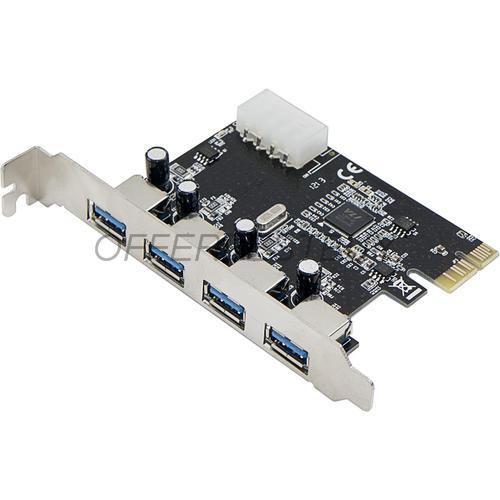NEW 4 Ports USB 3.0 USB3.0 HUB to PCI-E PCI Express Card Adapter VLI Chipset Free Shipping(China (Mainland))