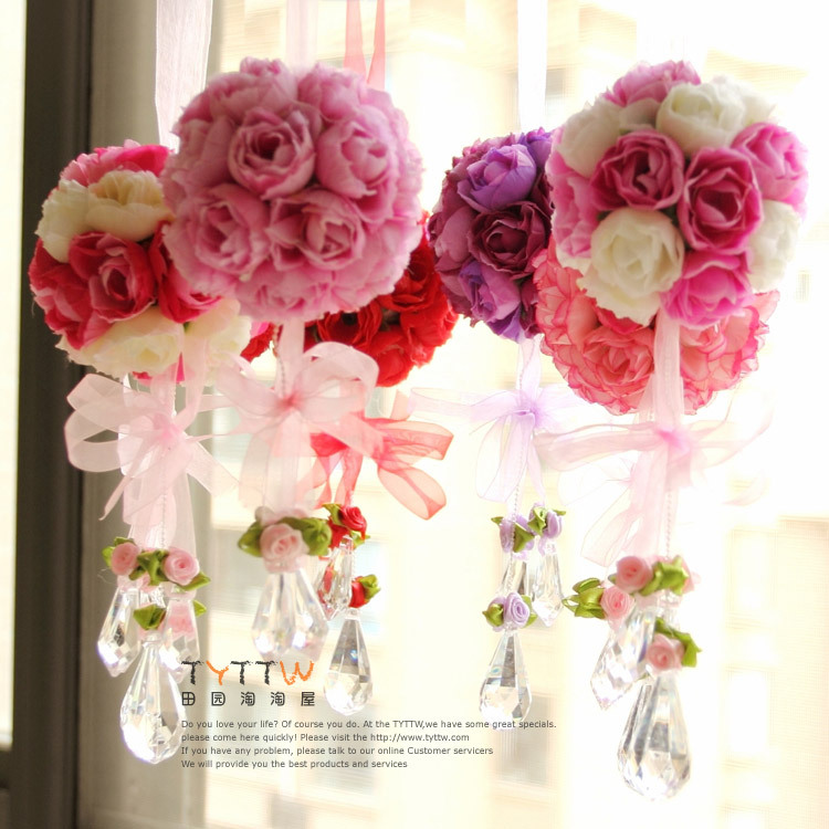 Free Shipping Rose Ball Silk Flower Natural Touch Artificial Flower Home Decorations For Wedding BirthdayParty