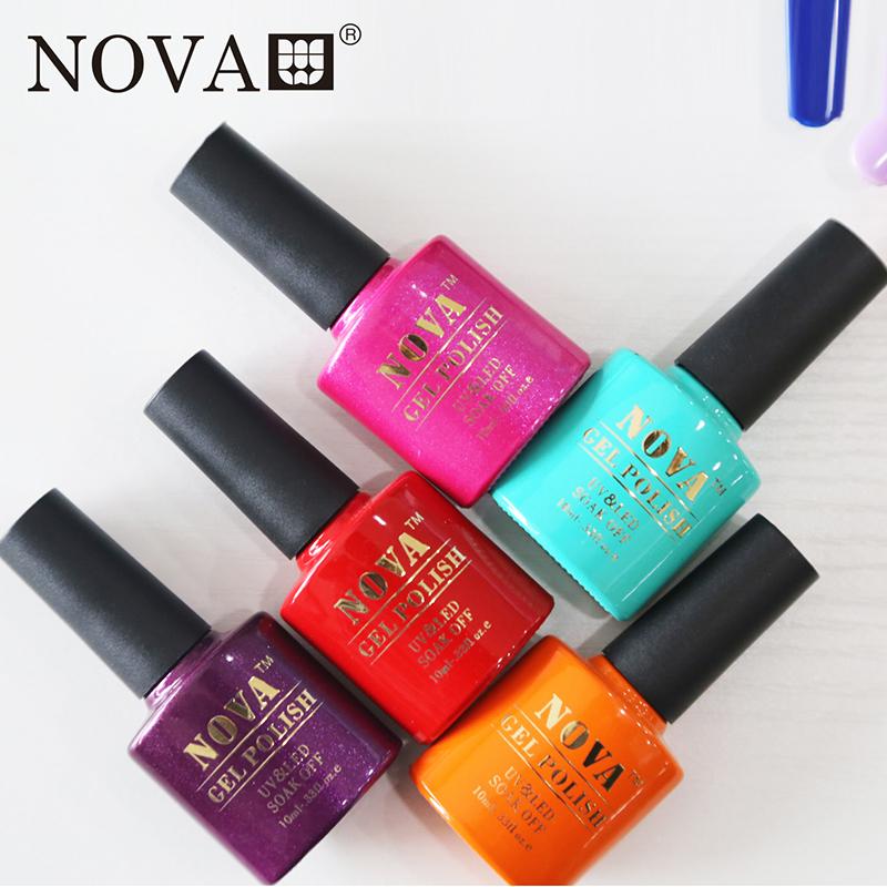 uv gel polish (7 pcs NOVA gel+1 pcs rubber base coat 10ml+1 pcs rubber top coat 15ml) <br><br>Aliexpress