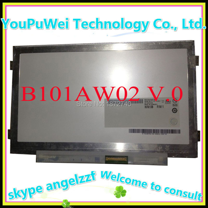 10.1 slim lcd matrix B101AW02 B101AW02 V.0 for ASUS netbook replacement dispay screen(China (Mainland))
