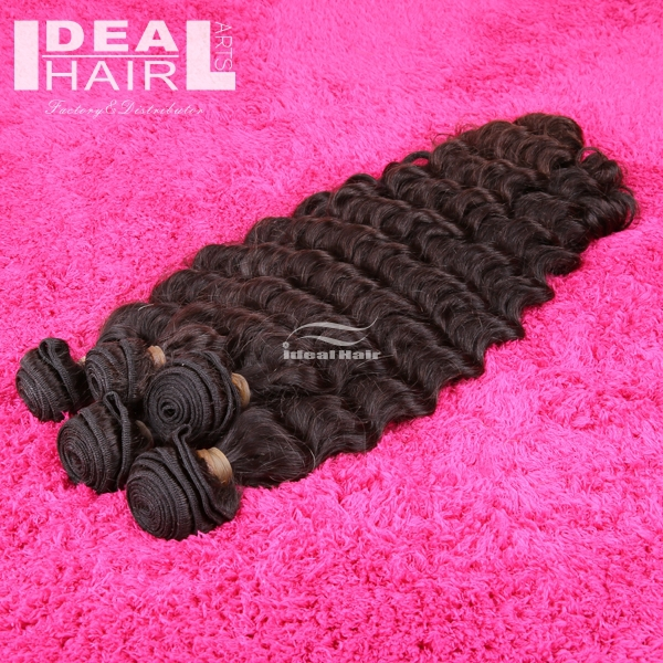 free shipping 5A ideal hair products deep wave bundles peruvian virgin hair 5pcs/lot human weave 12-30inch hair extension<br><br>Aliexpress