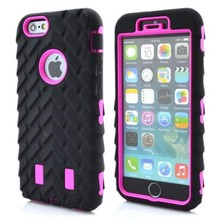 100pcs Cool Slim Armor Case For Apple iPhone 6 4.7 Tire Dual Layer Hybrid Tough Armor Hard Back Cover For iphone 6