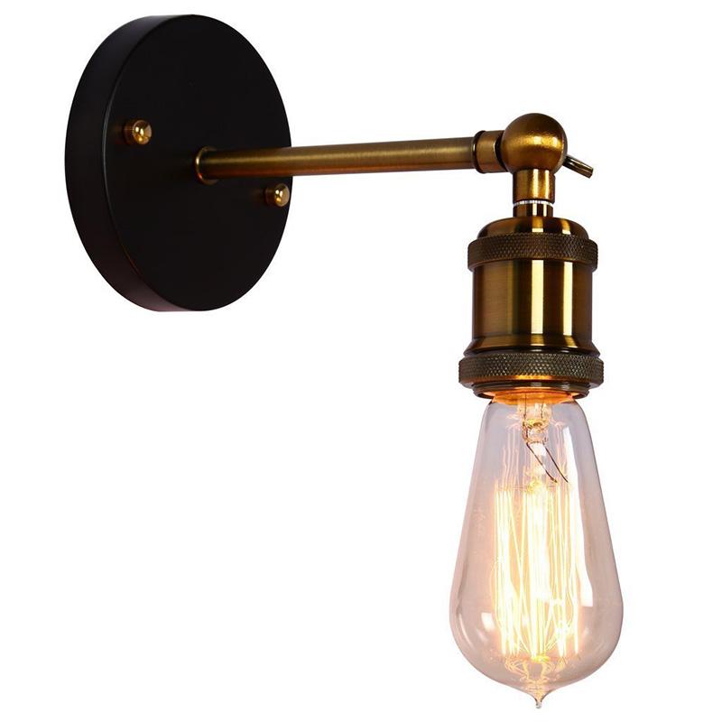 vintage wall lights fixture kitchen wall lamp loft retro metal adjusted designer ac 110 220v cheap wall lighting