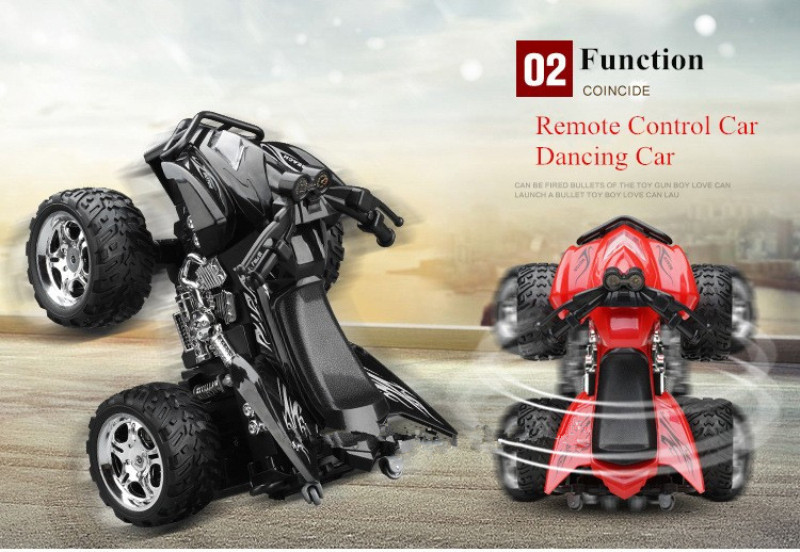 Newest design Hot sell RC Car A6 4D Remote Control Motorcycle Sandy Beach Cross Country 4WD Dynamic Motorcycles Kids Toy Vehicle