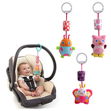Wholesale- Hanging Bed toys baby bed hanging toy and ring the bell Baby stroller accessories 3 PCS / Lot (WJ241-WJ242)(China (Mainland))