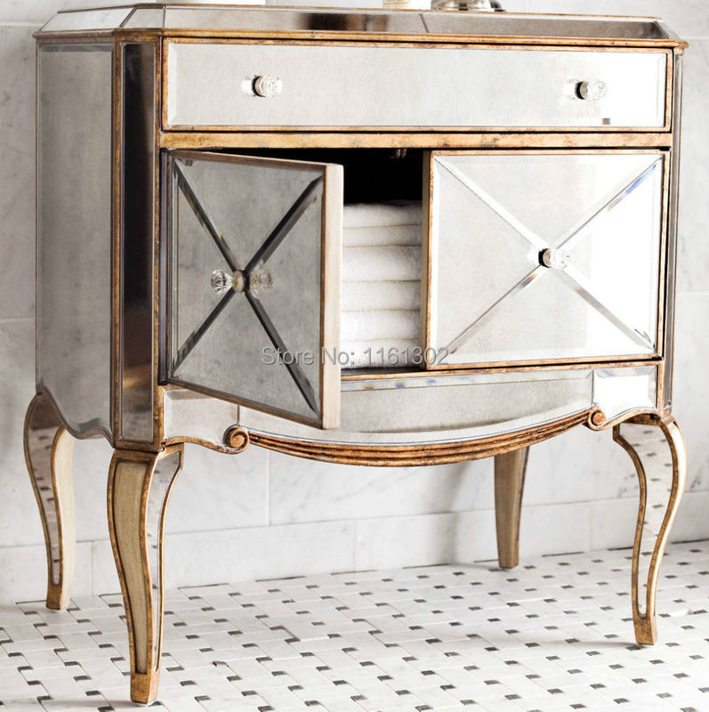 Mr 401115 Antique Gold Rimming Mirrored Chest For Bedroom Furniture In Dressers From Furniture