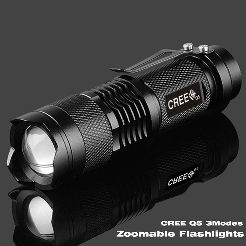 Гаджет  Free shipping high-quality Portable Light  Mini Black CREE 2000LM Waterproof LED Flashlight 3 Modes Zoomable LED Torch penlight None Свет и освещение