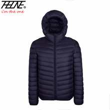 THHONE Brand Down Parka Men Winter Jackets Hooded Outwear Padded Chaqueta Hombre Zipper Ultra Light Down Jackets Men Winter Coat(China (Mainland))