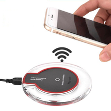 Buy Qi Wireless Charger samsung android iphone xiaomi mobile phone 5V 1A power charging universal Adapter Dock quick charge for $6.79 in AliExpress store