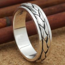 S925 оптовая продажа серебряные ювелирные изделия серебра fingerring пара могут вращаться на личность каждая собака имеет свой день(China (Mainland))