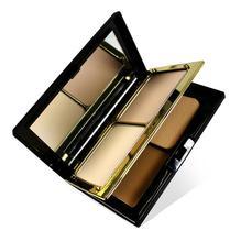 DANNI 2015 Luxury 3 Colors Pressed Powder Face Contour Makeup Powder Palette Skin Finish Fixing Make Up Powder(China (Mainland))