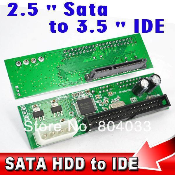 """22Pin Sata 2.5"""" 3.5 inch to IDE 3.5"""" 44pin HDD Hard Disk Driver Adapter Converter Adaptor ATA 100 133 HDD DVD CD 4P Molex Power(China (Mainland))"""