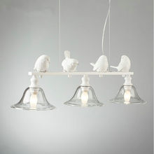 Nordic 3 lights resin bird lamp