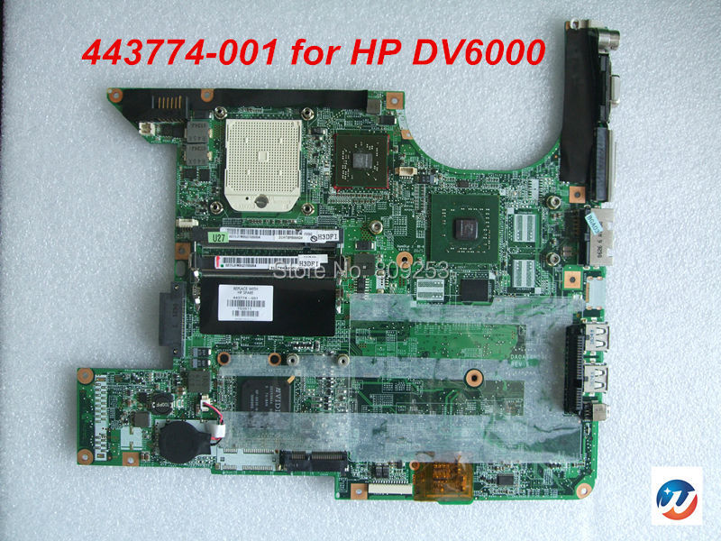 Free shipping for HP Pavilion DV6000 Laptop AMD CPU Motherboard 443774-001 433280-001 fully TESTED(China (Mainland))
