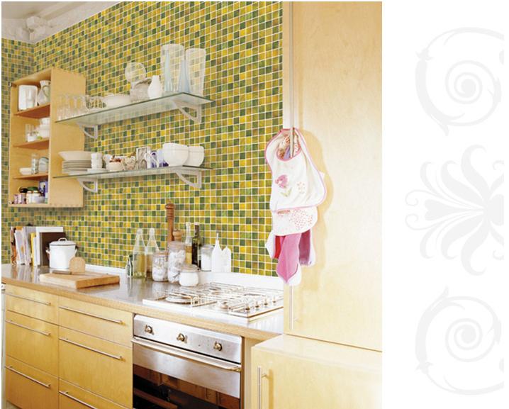 Adesivi per piastrelle bagno carta da parati impermeabile for Piastrelle bagno adesive