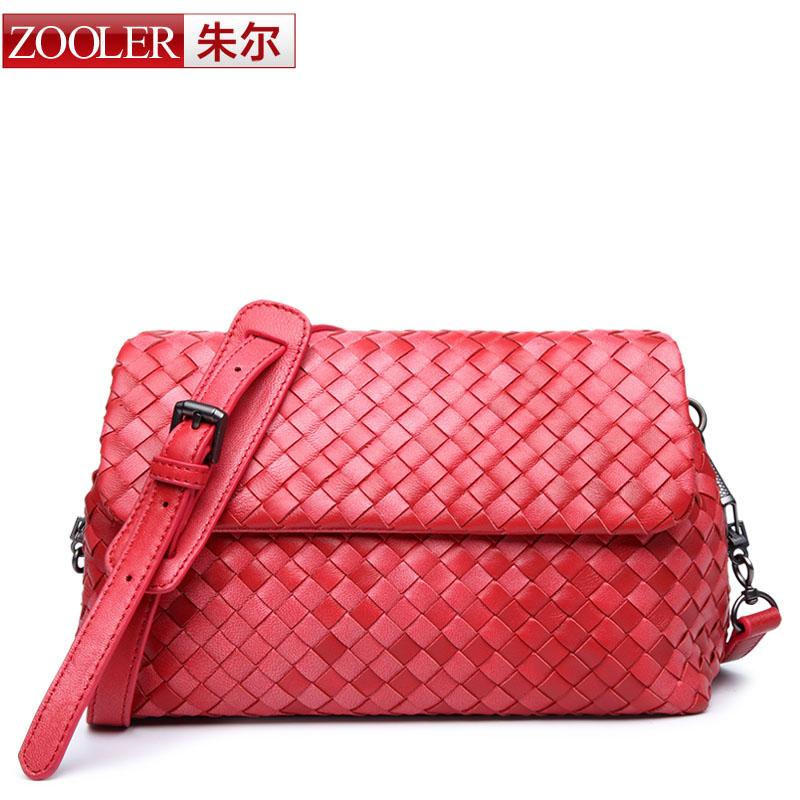 ZOOLER women leather bag hand-woven sheepskin girls bag women shoulder messenger bags famous brands 2016 classic bolsa feminina(China (Mainland))