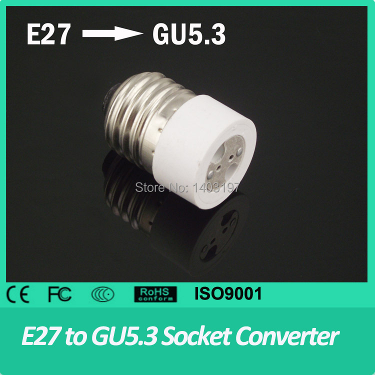 10PCS/lot Free Shipping E27 to GU5.3 MR16 Converter White Light Base Bulbs Holder Socket Adapter E27 to GU5.3(China (Mainland))