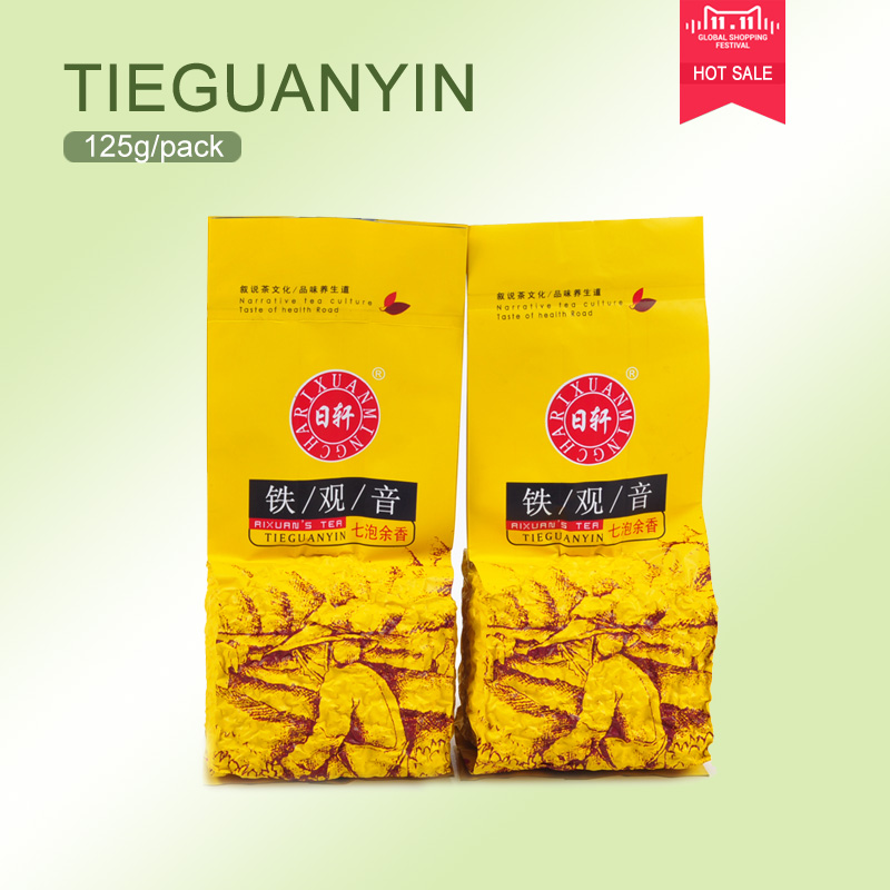 Hot sale 125g Top grade Chinese Oolong tea Anxi tieguanyin tea,2016 new tie guan yin tea the green food new health care products<br><br>Aliexpress