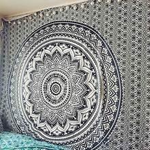 Mandala indiano tapeçaria de parede pendurado praia arenosa lance cobertor tenda acampamento viagem colchão boêmio almofada dormir tapeçarias(China)