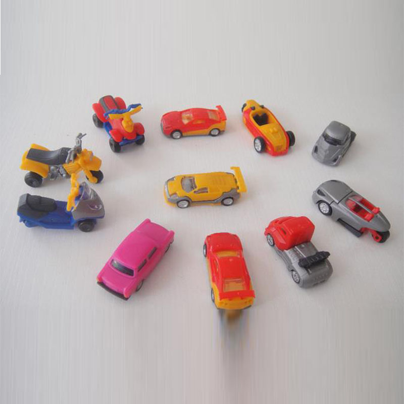 50pcs/lot education assembling car model toys 3.5-4.5CM, boys toys pvc car , individual bag, birthday gift for little friends(China (Mainland))
