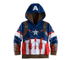 New Arrival 2015 5Style 3-10T The avengers Baby Boy's Iron man Cosplay Coat Kids Thor Casual  jackets.Baby Girls&Boys hoodies(China (Mainland))
