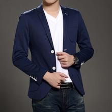 2015 Fashion Casual Men s Blazer Stylish Slim Fit Suit Mens Masculino Two Buttons Blazer Jackets