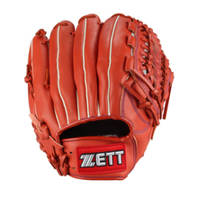 2015  Professional A-Grade Cowhide Baseball Glove 12.5 Inches Orange ZETT BPGT-8727 Full Finger Baseman Gloves(China (Mainland))