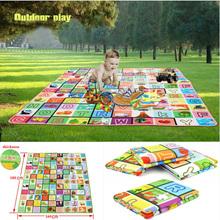 hochwertige Kind spielen matten aluminium Öko- freundlich baby spielen matten krabbeln pad, als matten, zelt matten 160* 180(China (Mainland))