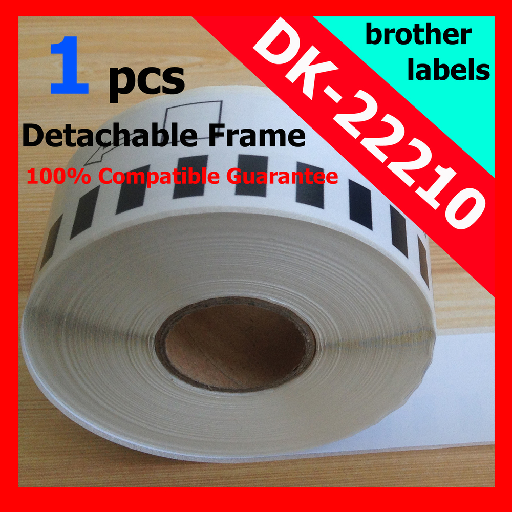 50x Rolls Brother Compatible Labels dk-22210 29mmx30.48m Thermal paper sticker Continuous Label(China (Mainland))