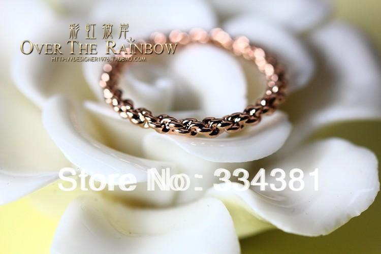 Free shipping Wholesale/ Retail Korean rose gold Women pinky ring finger ring J00002(China (Mainland))