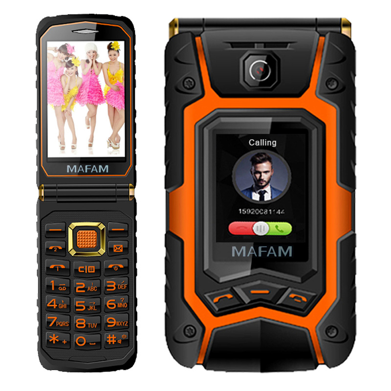 MAFAM X9 Land Flip Rover phone Double dual Screen Dual speaker Dual SIM Card one-key dial long standby 2500mAh FM mobile phone(China (Mainland))