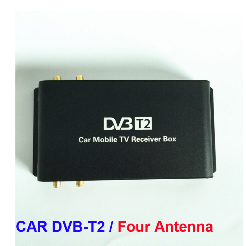 Dvb T2 Digital Car Tv Tuner Four  Antenna &amp; Video Output &amp; Audio Output Receiver Multi Lingual Support DVB-T2  MPEG-4 MPEG-2 Tdt<br><br>Aliexpress