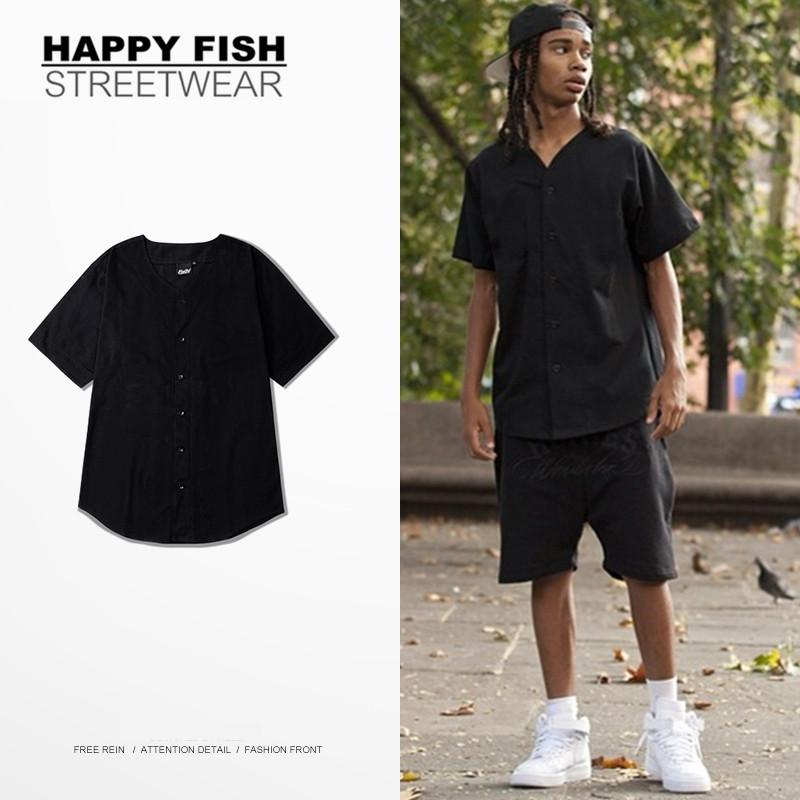 Original Design New Mens Baseball Jerseys Hip Hop Classic Short Sleeve Arc Cut Tops Tees Casual Brand Clothing Solid T Shirt(China (Mainland))