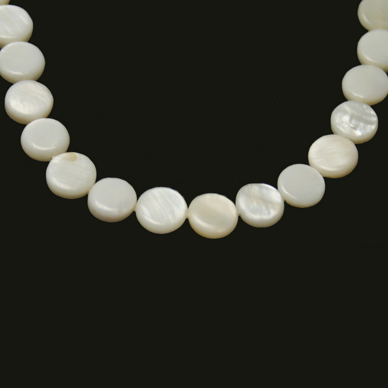 New designed 9mm Flat RoundShape Natural freshwater Shell Beads White MOP Beads for Jewelry & DIY Craft BTA043-08WH(China (Mainland))
