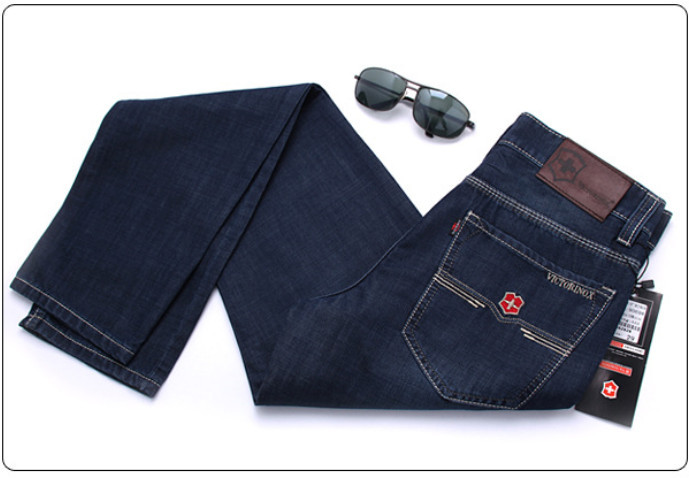 Fashion Casual Jeans ,2015 New Newly Style Famous Brand Men's Jeans,Denim, Cotton Jeans Pants, Blue Straight Jeans size:28~42(China (Mainland))
