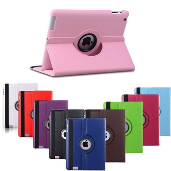 Free shipping Pu Leather Rotating Case Smart Cover Stand For APPLE for ipad air air2 ipad5 ipad6 caseTablet Case