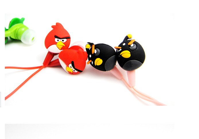 Free DHL Shipping Cute Bird Earphone Headphone For MP3 MP4 Player Tablet PC Cellphone 3.5mm Inear Style 200pcs/lot(China (Mainland))