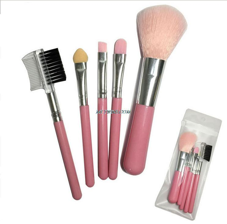 Free shipping Package 5 pieces professional makeup brush set makeup brush kit pinceis maquiage cosmetic and beauty tools for(China (Mainland))