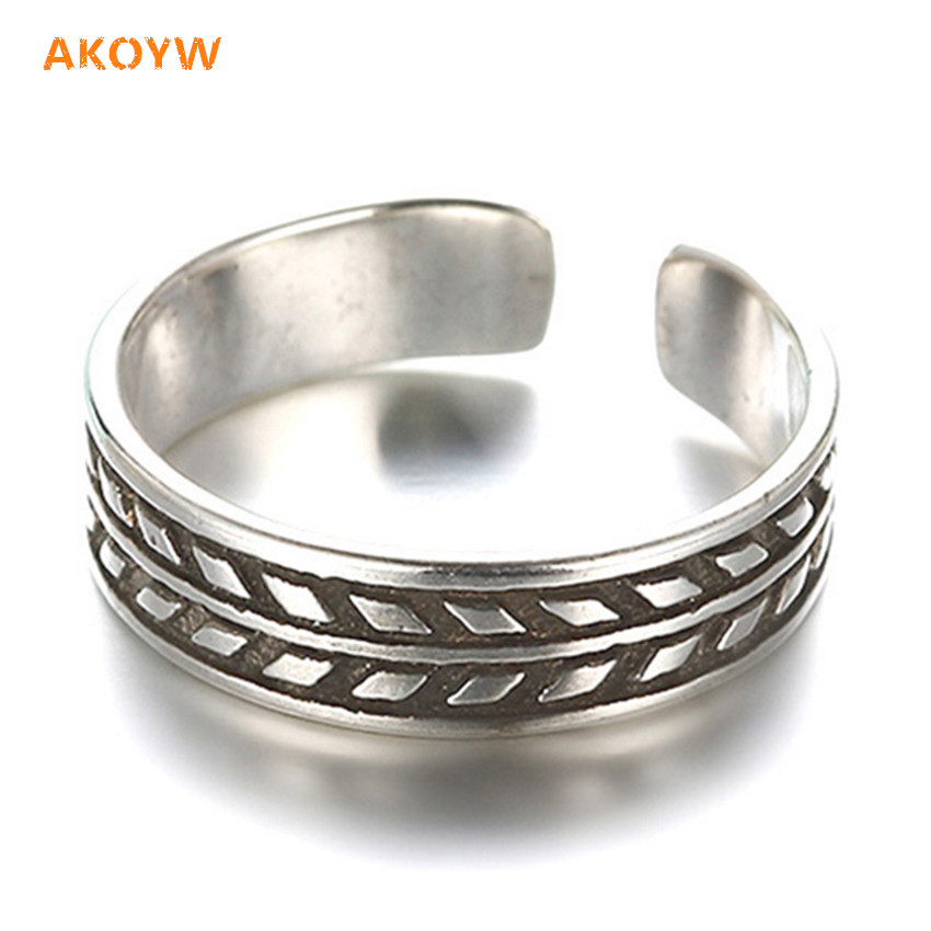 Unisex simple retro ring opening of the high-end European and American popular jewelry 5MM + 16MM Silver plated(China (Mainland))